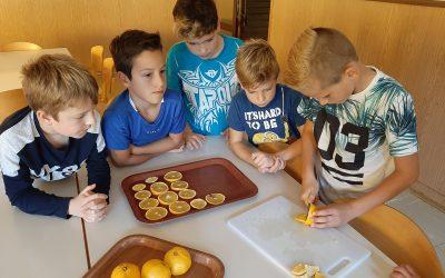 Sušenje pomaranč